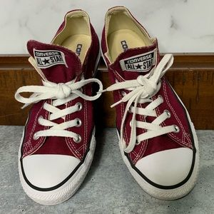 Converse All-Stars Red Sneakers Size 8